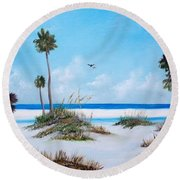 Siesta Key Fun Round Beach Towel