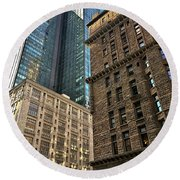 Round Beach Towel featuring the photograph Sights In New York City - Old And New 2 by Walt Foegelle