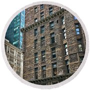 Round Beach Towel featuring the photograph Sights In New York City - Old And New by Walt Foegelle