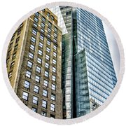 Round Beach Towel featuring the photograph Sights In New York City - Skyscrapers by Walt Foegelle