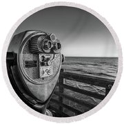Sightseeing Round Beach Towel by Peter Tellone