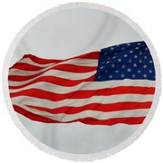 Sign Of Freedom Round Beach Towel