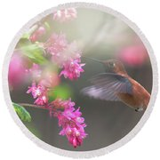 Sign Of Spring 2 Round Beach Towel by Randy Hall