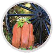 Round Beach Towel featuring the photograph Signs Of Fall by Rick Morgan