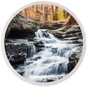 Autumn At Moss Rock Preserve Round Beach Towel