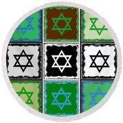 Silberzweig - Judaica Modern Star Jade Round Beach Towel