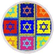 Silberzweig - Judaica Modern Star Sun Round Beach Towel