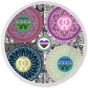 Silberzweig - Karma Mandela -  Pride Female - Ruby Round Beach Towel
