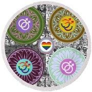 Silberzweig - Karma Mandela - Pride Male - Jade Round Beach Towel