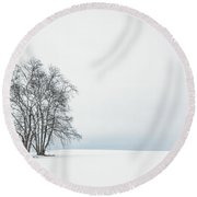 Silence Arise Round Beach Towel