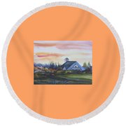 Silence Upon Midnapore Round Beach Towel by Anna  Duyunova