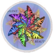 Silent Beauty Round Beach Towel