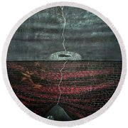 Silent Echo Round Beach Towel by Fei A