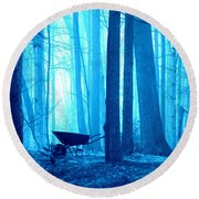 Silent Forest Round Beach Towel