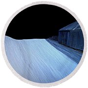 Round Beach Towel featuring the painting Silent Night by Bill OConnor