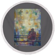 Round Beach Towel featuring the painting Silent Night by Raymond Doward