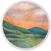 Silent Reverie Round Beach Towel by Tanielle Childers