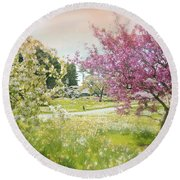 Round Beach Towel featuring the photograph Silent Wish You Make by Diana Angstadt