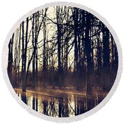 Silent Woods #4 Round Beach Towel