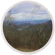 Silers Bald 2015c Round Beach Towel