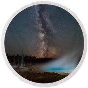 Silex Spring Milky Way  Round Beach Towel