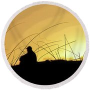 Lonely Times Round Beach Towel