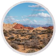 Silica Dome - Valley Of Fire Round Beach Towel