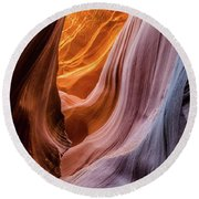 Silky Rocks 2 Round Beach Towel