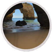 Silky Sands And Arch Round Beach Towel