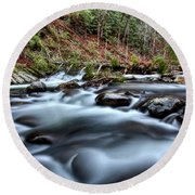 Round Beach Towel featuring the photograph Silky Smooth by Douglas Stucky