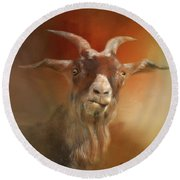 Silly Goat Round Beach Towel