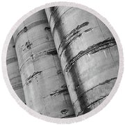 Silos Round Beach Towel by David Pantuso