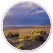 Siltcoos River Mouth Round Beach Towel