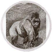 Gorilla Of My Dreams Round Beach Towel