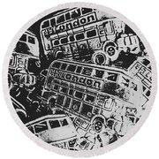 Silver City Round Beach Towel
