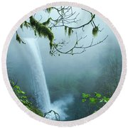 Silver Creek Falls Round Beach Towel