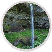 Silver Falls 2893 Round Beach Towel
