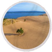 Silver Lake Dunes Round Beach Towel