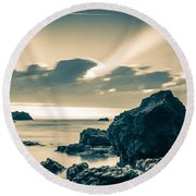Silver Moment Round Beach Towel