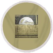 Silver Moon Round Beach Towel