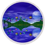 Silver Palace Round Beach Towel by Mark Blauhoefer