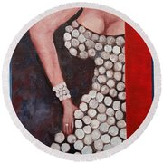 Silver Queen   39 Round Beach Towel