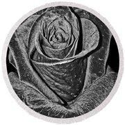 Silver Rose Round Beach Towel