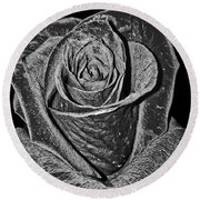 Silver Rose Round Beach Towel