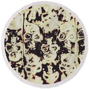 Silver Skull Art Round Beach Towel