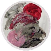 Silver Wave With Beach Toys Round Beach Towel