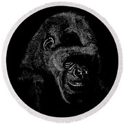 Silverback Round Beach Towel by Lawrence Tripoli