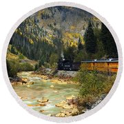 Round Beach Towel featuring the photograph Silverton Bound by Kurt Van Wagner