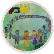 Simchat Torah Round Beach Towel