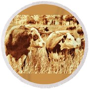 Simmental Bull 3 Round Beach Towel
